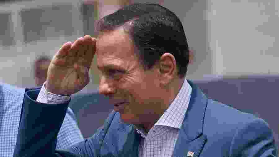 Governador João Doria durante inauguração de delegacia em Franca (SP) - 26.nov.2019 - Igor do Vale/Altaphoto/Estadão Conteúdo