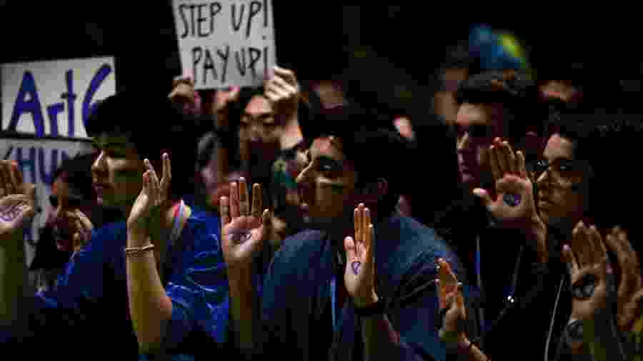 COP25, em Madri, é marcada pela presença de manifestantes - Cristina Quicler/AFP