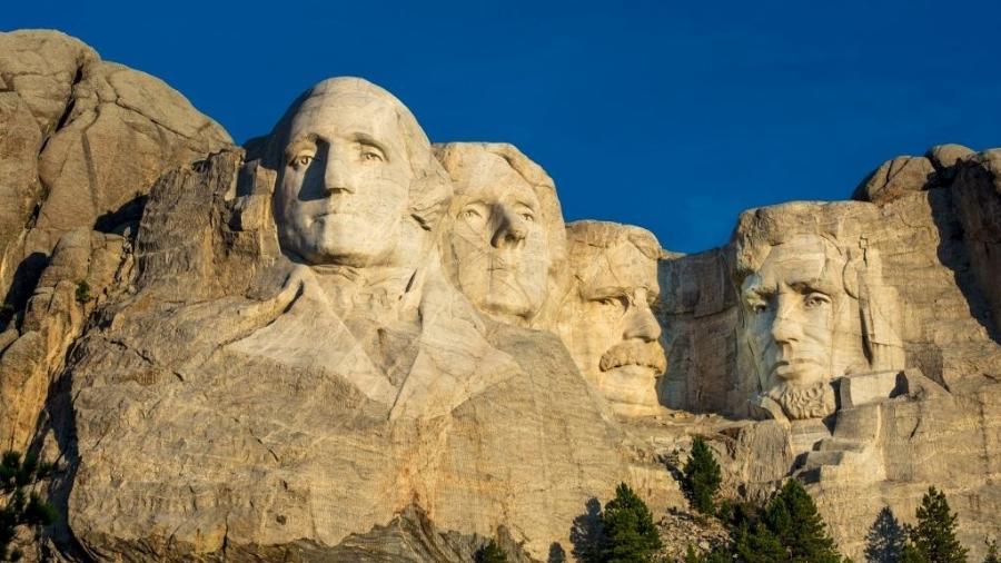 Monte Rushmore: da esquerda para a direita, George Washington, Thomas Jefferson, Theodore Roosevelt e Abraham Lincoln - Visions of America/Universal Images Group via Getty Images
