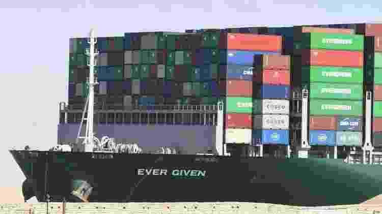 Quase dois milhões de barris de petróleo e aproximadamente 8% do gás natural liquefeito passam pelo Canal de Suez todos os dias - Getty Images - Getty Images