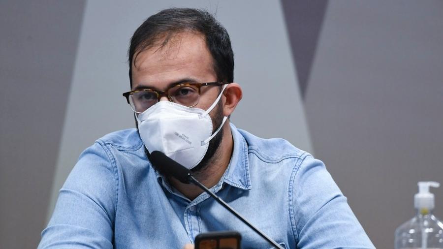 Chefe de importação do Ministério da Saúde, Luis Ricardo Miranda, durante depoimento à CPI da Covid - Jefferson Rudy/Agência Senado