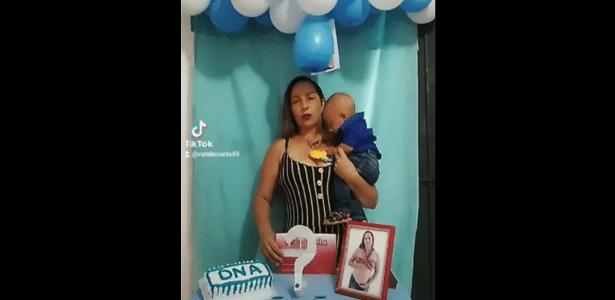 Mãe faz chá revelação de DNA para provar paternidade do filho