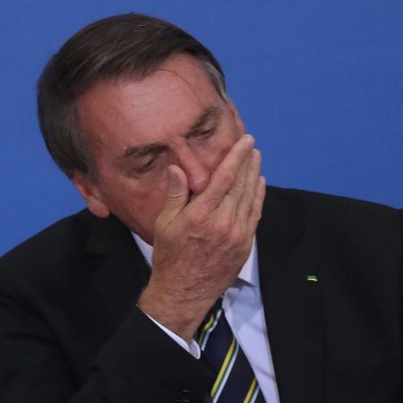 O presidente Jair Bolsonaro durante cerimônia no Palácio do Planalto - GABRIELA BILÓ/ESTADÃO CONTEÚDO