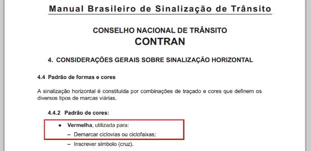 Manual Brasileiro de Sinalização de Trânsito - Reprodução - Reprodução