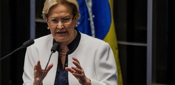 A senadora Ana Amélia (PP-RS) foi a primeira a ocupar a tribuna