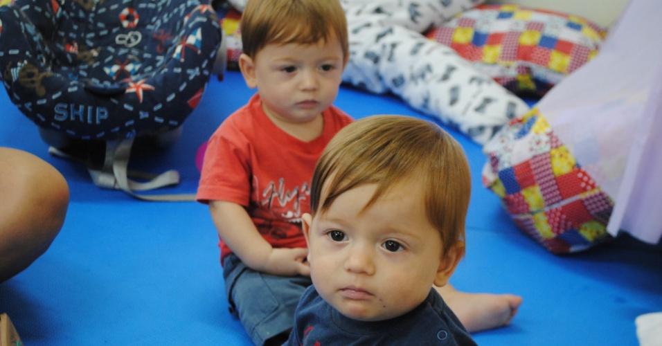 Enzo e Davi - Seis duplas de gêmeos estão na mesma creche em Florianópolis