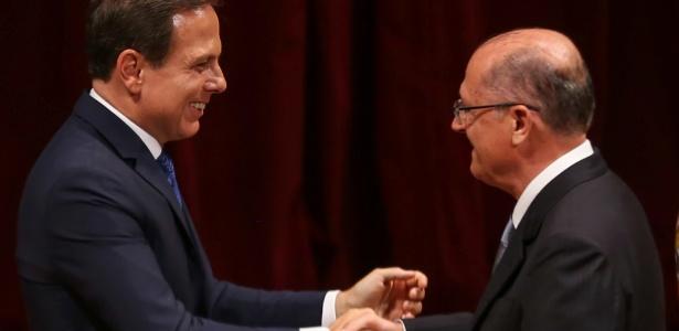 Doria e Alckmin exaltaram o fato de torcedores do Santos estarem no poder