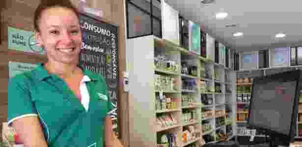 """""""Tem gente que compra até oito barrinhas de cereal por dia e resolveu estocar por conta da semana que vem"""", diz a caixa Karine Becker - Janaina Garcia/UOL"""