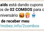Segura a fome! Promoção que dá cupom do McDonald's no WhatsApp é golpe (Foto: Reprodução)