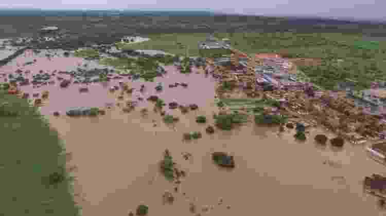 11.jun.2017 - O município de Coronel João Sá foi atingido pela água que transbordou da barragem - Município de Coronel João Sá / Reprodução