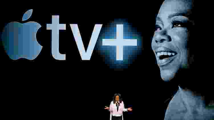 Oprah Winfrey durante apresentação da Apple TV+ - Stephen Lam - Stephen Lam