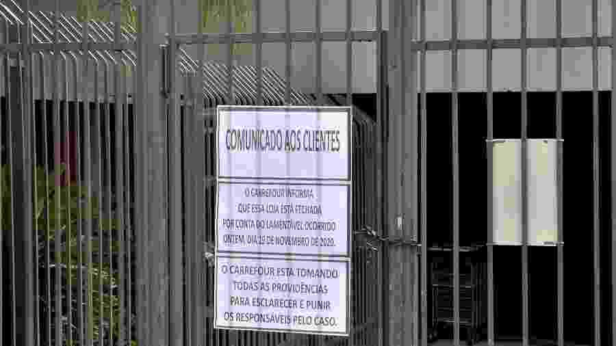 Defensoria recomendou que a loja do Carrefour onde João Alberto foi morto fique fechada por 5 dias - Gustavo Aguirre/TheNews2/Estadão Conteúdo