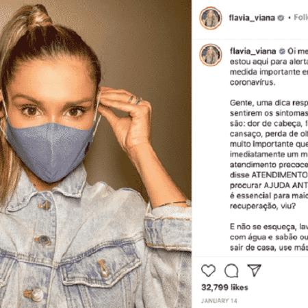 Com 2,5 milhões de seguidores, a ex-BBB Flávia Viana recebeu R$ 11,5 mil para defender atendimento precoce - Reprodução/Instagram - Reprodução/Instagram