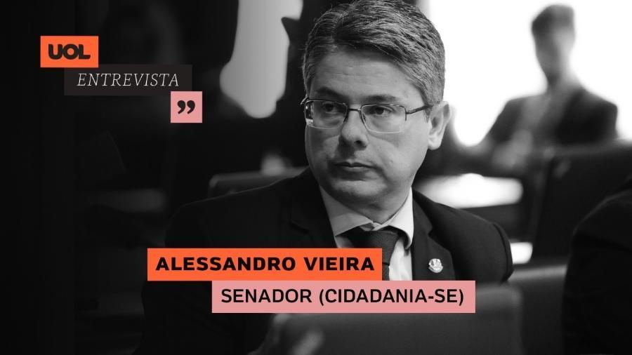O senador Alessandro Vieira (Cidadania-SE) - Editoria de Arte/UOL