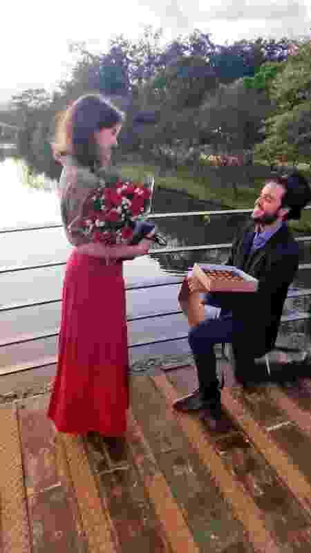 Em 29 de abril, quatro dias após conhecer Esther Cadosh, Levi Yitzchak a pediu em casamento - Arquivo Pessoal/Levi Yitzchak - Arquivo Pessoal/Levi Yitzchak