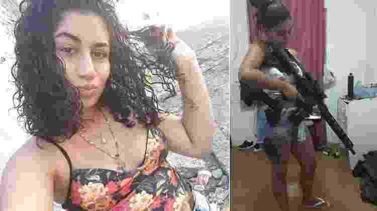Rayane Silveira, conhecida como Hello Kitty e Dama do Comando Vermelho - Reprodução/Instagram e Facebook - Reprodução/Instagram e Facebook