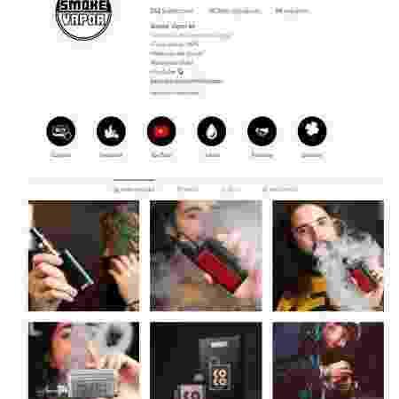 """O """"vaper"""" Sardinha, que comanda o SmokeVapor - Reprodução/Instagram - Reprodução/Instagram"""