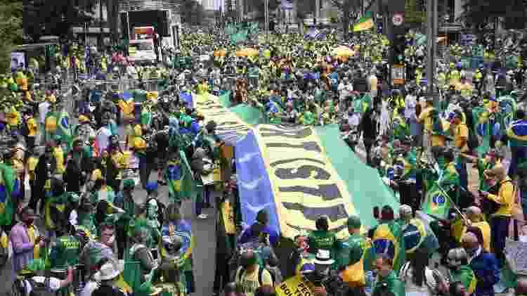 Protesto de 7 de Setembro, a favor do Presidente Jair Bolsonaro, realizado na Avenida Paulista, em São Paulo - CELSO LUIX/ESTADÃO CONTEÚDO - CELSO LUIX/ESTADÃO CONTEÚDO