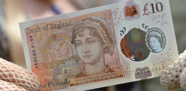 Nova nota de 10 libras estampa o rosto da escritora Jane Austen