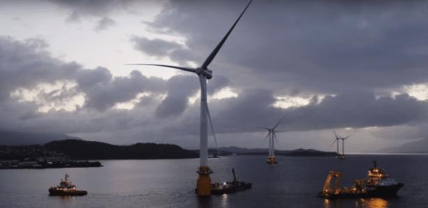 Parque eólico flutuante da Escócia terá capacidade de abastecer 20 mil casas