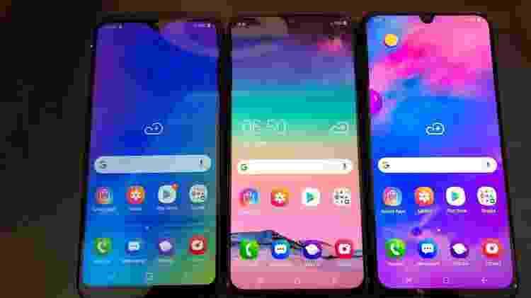 Galaxy M10, M20 e M30 são os novos celulares da Samsung - Gabriel Francisco Ribeiro/UOL