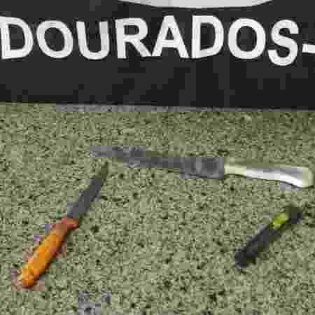 Objetos que foram usados em duplo homicídio em MS - Divulgação/Polícia Civil MS
