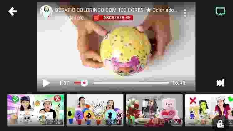 Vídeo no YouTube Kids mostra embalagem das bonecas infantis LOL Surprise - Reprodução - Reprodução