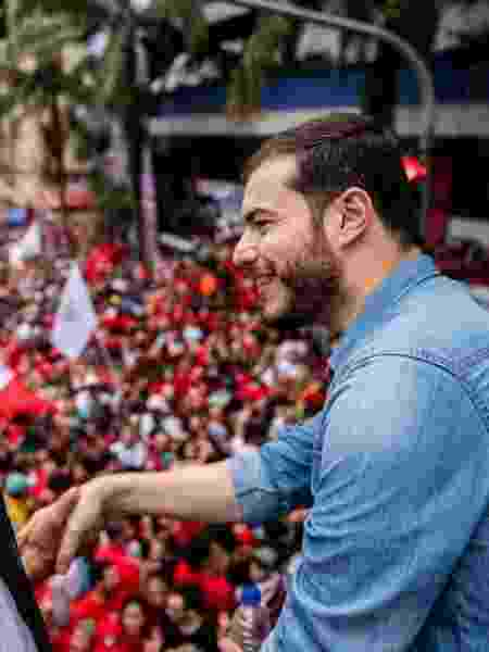 Presidente do PSOL, Juliano Medeiros participou de evento em que Lula discursou após ter sido solto - Reprodução - 9.nov.2019/Twitter/julianopsol50