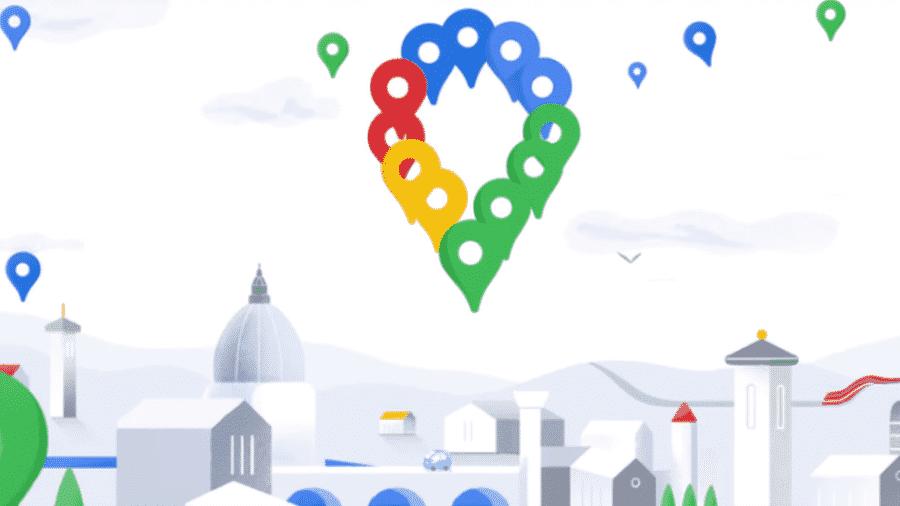 O Google Maps redesenhou seu logotipo ao completar 15 anos - Google