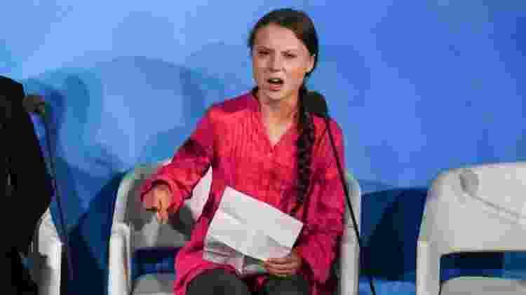 Naomi Seibt diz que gostaria de conhecer Greta Thunberg (foto) 'além de seus pontos de vista sobre as mudanças climáticas e o que ela diz diante das câmeras' - Getty Images