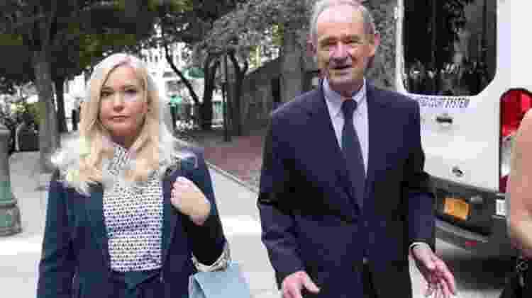 Virginia Roberts Giuffre (em foto com seu advogado) deu entrevista para canal australiano - Reuters - Reuters