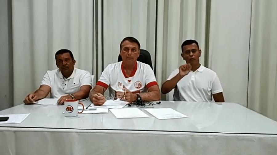 O presidente Jair Bolsonaro (sem partido) fez uma live no último dia de 2020 - Reprodução