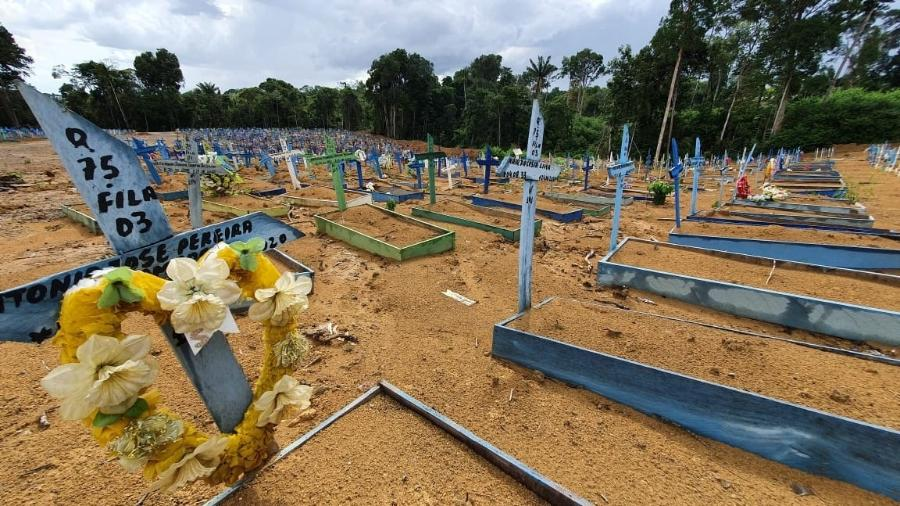 Brasil ultrapassou a marca das 295 mil mortes provocadas pela covid-19 - Carlos Madior/UOL