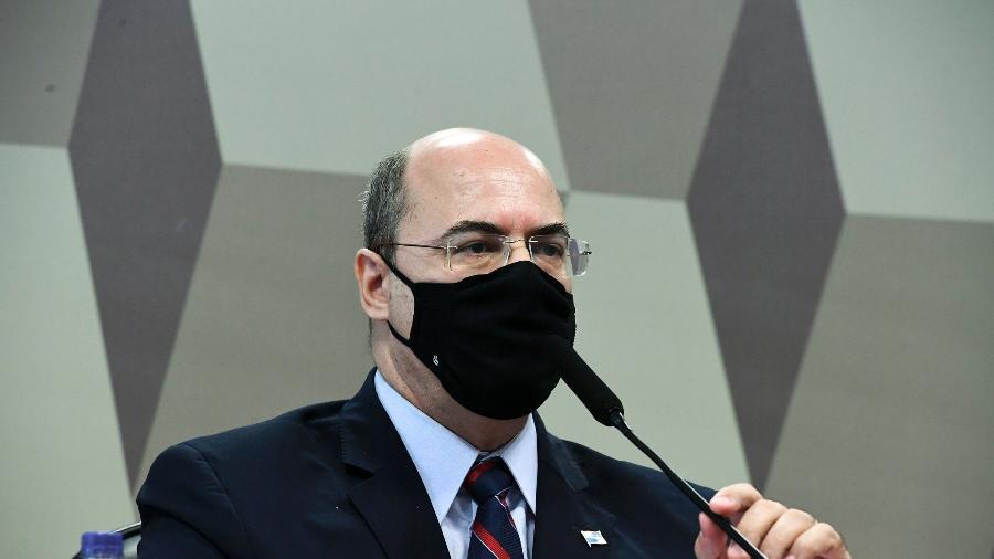 Wilson Witzel, ex-governador do Rio de Janeiro, é ouvido pela CPI da Covid - Edilson Rodrigues/Agência Senado