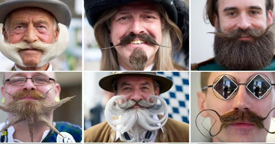 5.out.2015 - Mais de 300 homens de 20 nacionalidades diferentes disputam a edição 2015 do Campeonato Mundial de Barba e Bigode, em Leogang, na Áustria