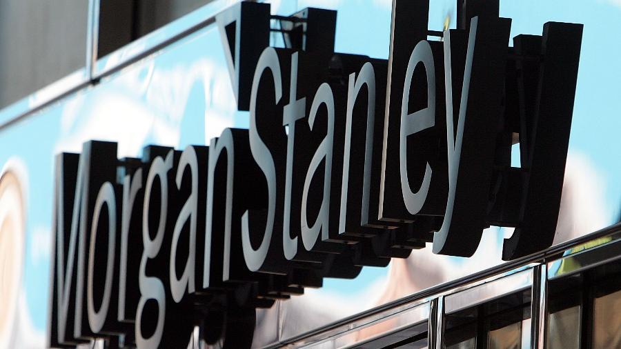 Letreiro na sede do banco Morgan Stanley em Nova York, nos EUA - Mario Tama/Getty Images/AFP