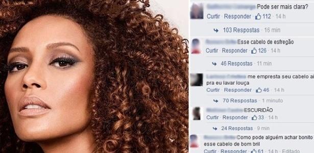 A atriz Taís Araújo sofreu uma série de insultos racistas em sua página no Facebook - Montagem BOL