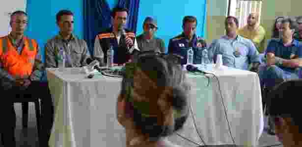 Autoridades concedem entrevista coletiva em Mariana (MG) - Antonio Cruz/Agência Brasil