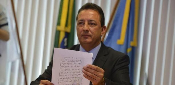 O presidente do TC-DF, Renato Rainha, fala sobre carta que recebeu, com ameaça
