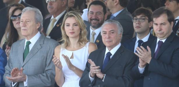Temer é recebido com protestos em sua 1ª aparição pública no Brasil - Ricardo Borges/Folhapress