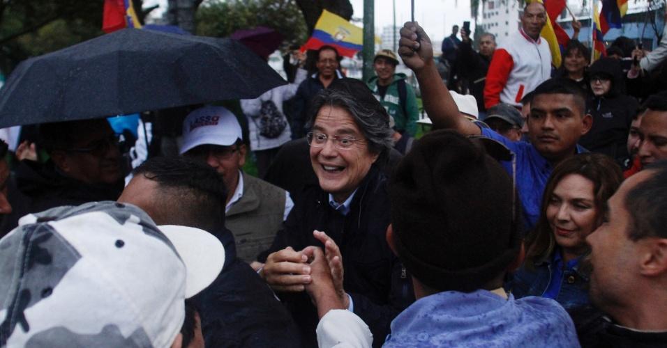 Guillermo Lasso aposta no livre comércio para recuperar economia do Equador - Daniel Tapia/Reuters