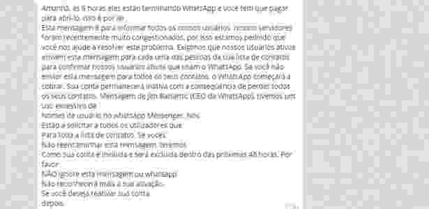 Boato no WhatsApp - 1 - Reprodução - Reprodução