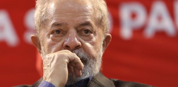Lula em maio, durante evento do PT em São Paulo