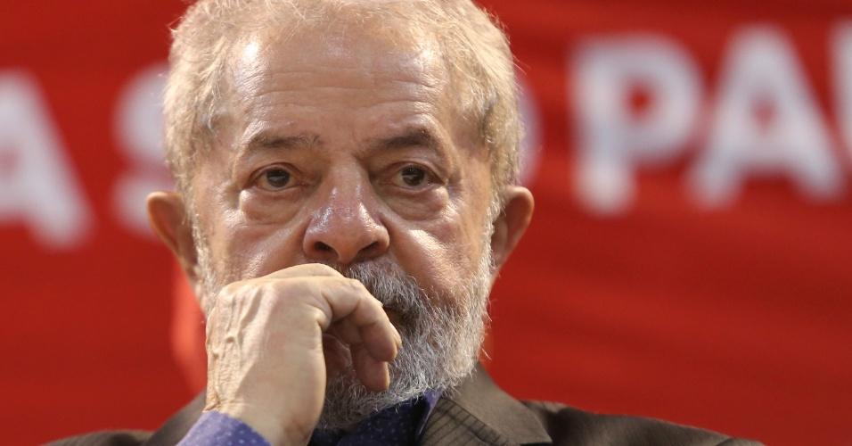 5.mai.2017 - Lula durante o 6º Congresso do PT, em São Paulo