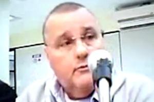 O ex-ministro Geddel Vieira Lima durante depoimento em audiência de custódia