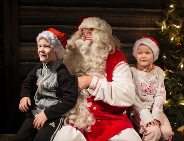 Kari Eskeli interpreta de Papai Noel em Rovaniemi, Finlândia - ILVY NJIOKIKTJIEN/NYT