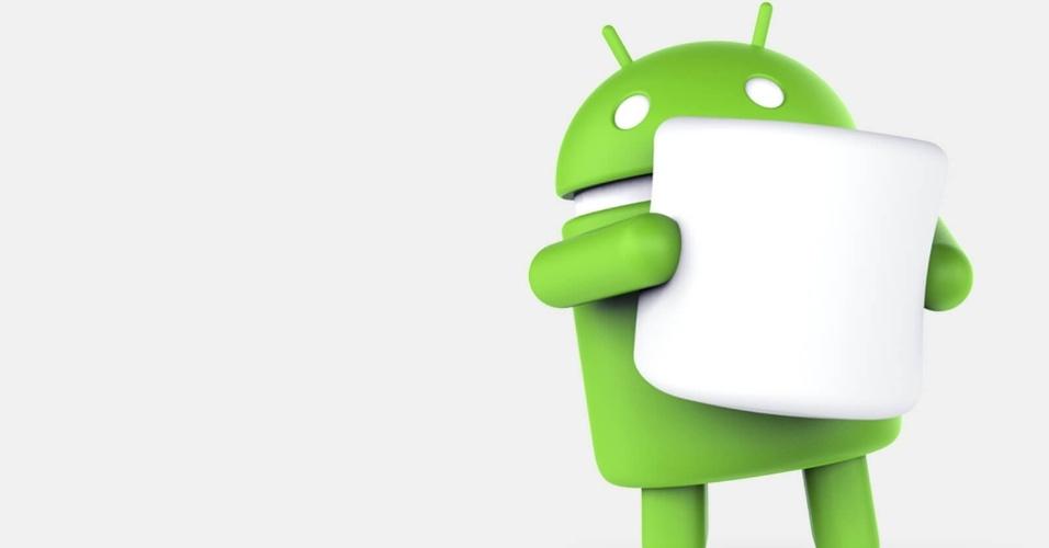 Logo do Android 6.0 ao 6.0.1 (Marshmallow), lançado em 5 de outubro de 2015