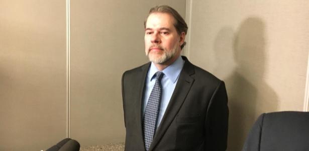 O ministro Dias Toffoli durante evento do IASP (Instituto dos Advogados de São Paulo), em SP - Guilherme Mazieiro/UOL