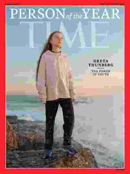 A ativista Greta Thunberg, eleita personalidade do ano pela revista TIME - Divulgação