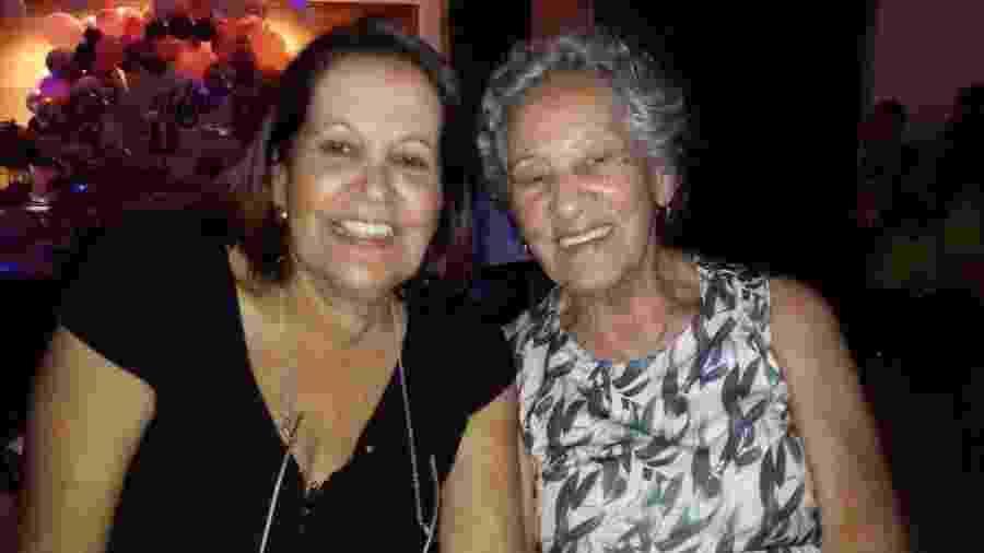 Amacir Nascimento, 91 anos e a filha, Vera Lúcia, 68 - Arquivo Pessoal